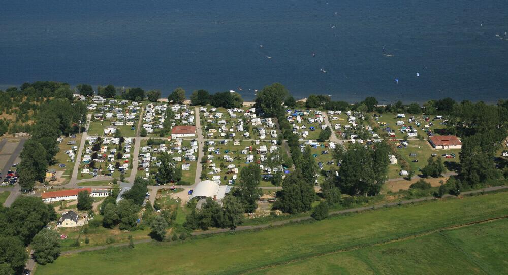 Campingplatz Loissin von oben
