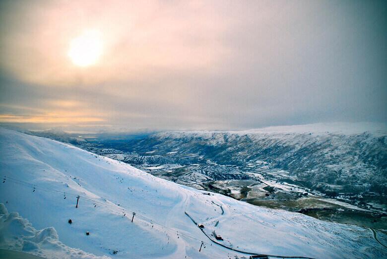 Schneelandschaft in Neuseeland