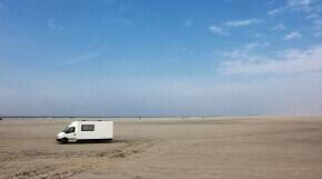 Camper am Nordseestrand