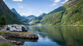 Camping am norwegischen Fjord