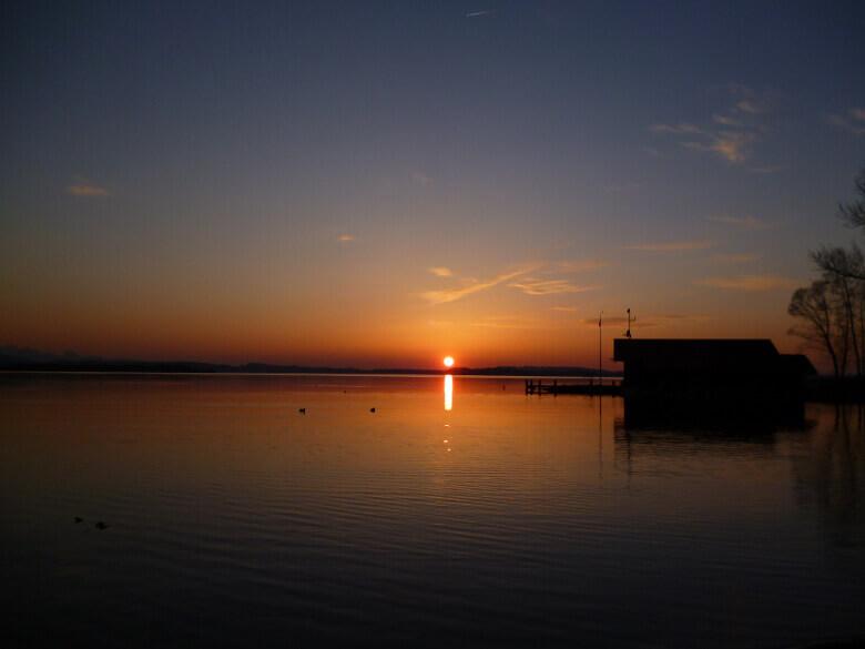 Sonnenuntergang über dem Chiemsee