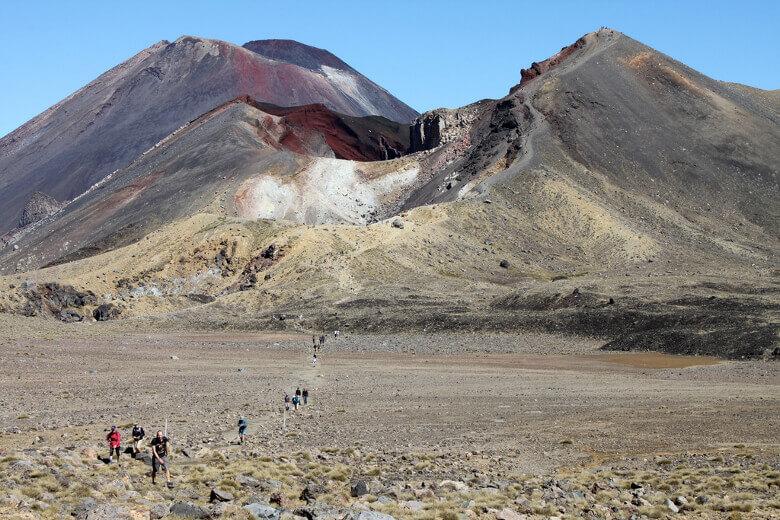 Wanderung im Tongariro National Park