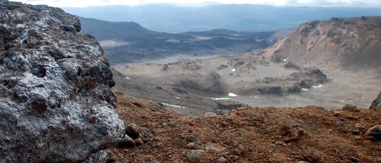 Aussicht über den Tongariro National Park