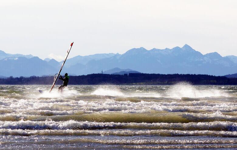 Windsurfer auf dem Chiemsee