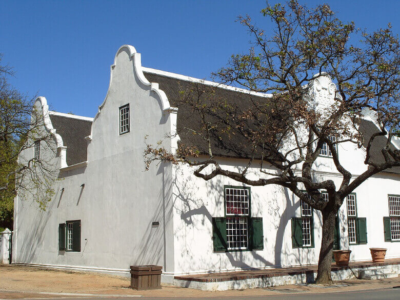 Gebäude im kapholländischen Stil in Stellenbosch
