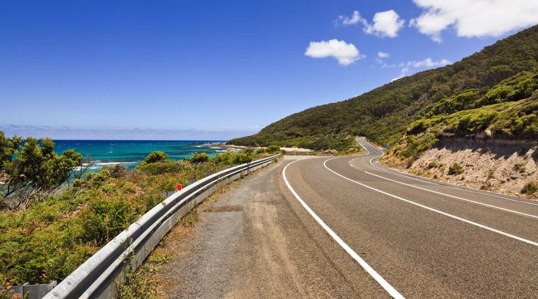 Abschnitt auf der Great Ocean Road in Australien