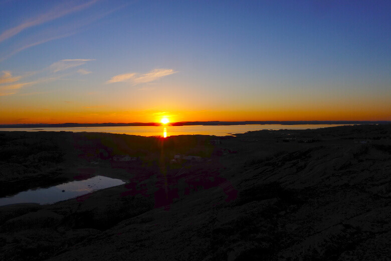 Verdens Ende bei Sonnenuntergang