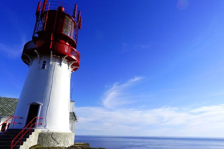 Lindesnes Leuchtturm am Südkap Norwegens