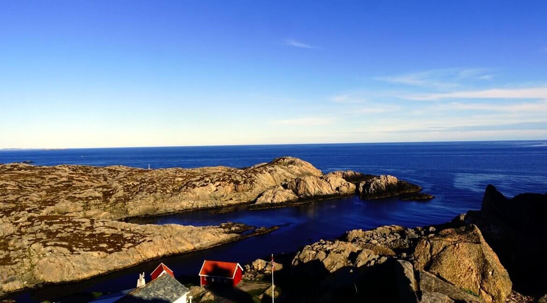 Aussicht vom Lindesnes Südkap Norwegen