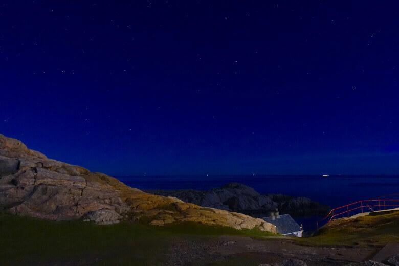 Der südlichste Punkt Norwegens bei Nacht