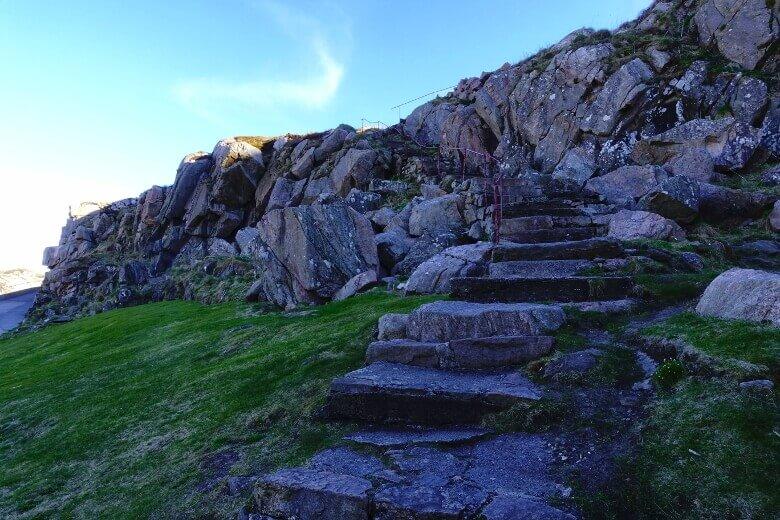 Treppenaufstieg zum Lindesnes Fyr