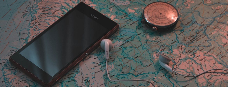 Smartphone auf Reisen