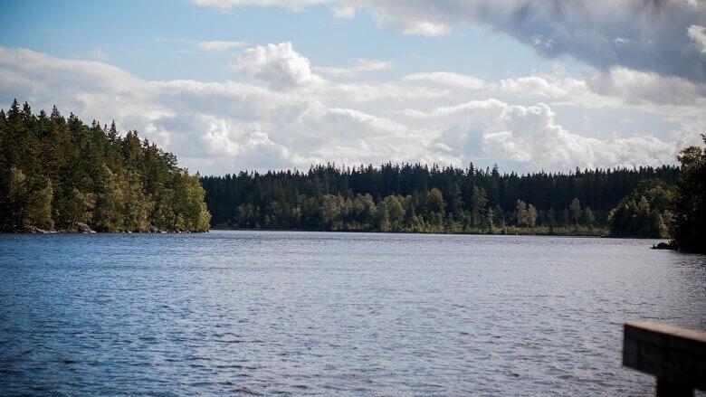 Campingplatz Vildmarkscamping am See in Südschweden