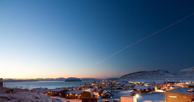 Hammerfest in Norwegen im Winter