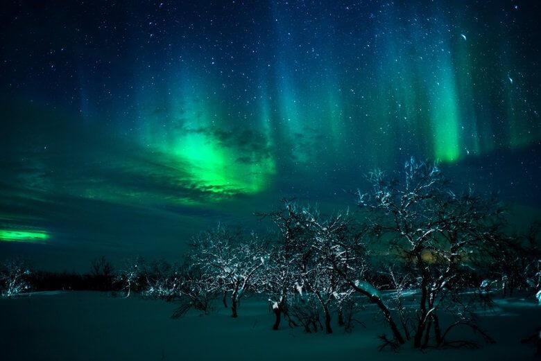 Polarlichter in der Finnmark in Norwegen