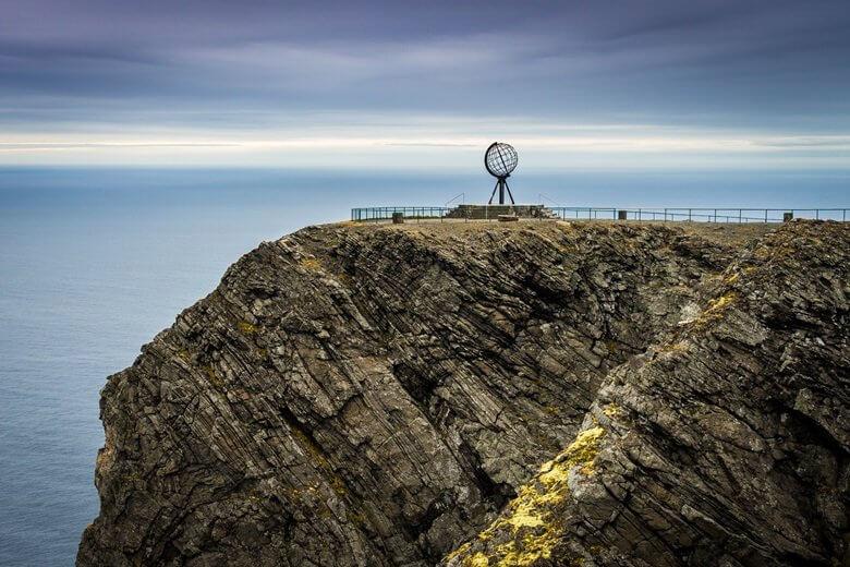 Blick auf das Nordkap in Norwegen
