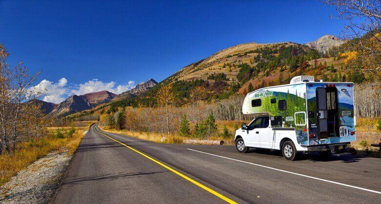 Truck Camper von Cruise America in Kanada