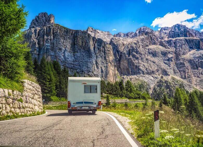 Wohnmobil in den italienischen Dolomiten