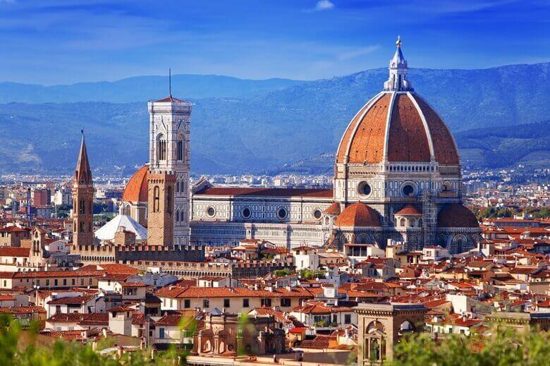 Atemberaubender Blick über Florenz in der italienischen Toskana