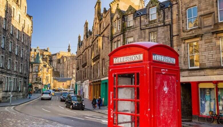 Das historische Zentrum von Schottlands Hauptstadt Edinburgh