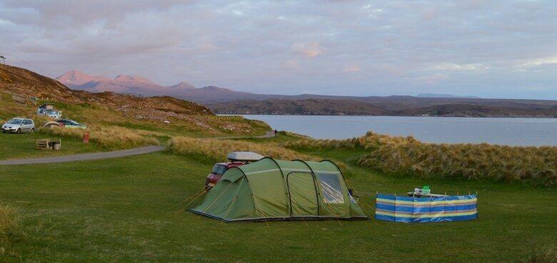 Sands Caravan and Camping Park an der Küste Schottlands