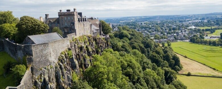 Der Blick vom Stirling Castle in Schottland
