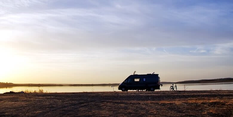 Wohnmobil in Portugal am Meer