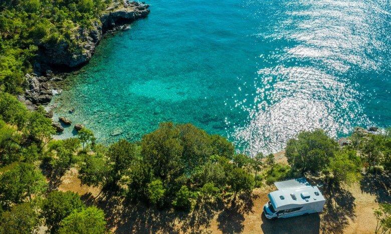 Campingplatz an der Adria in Kroatien