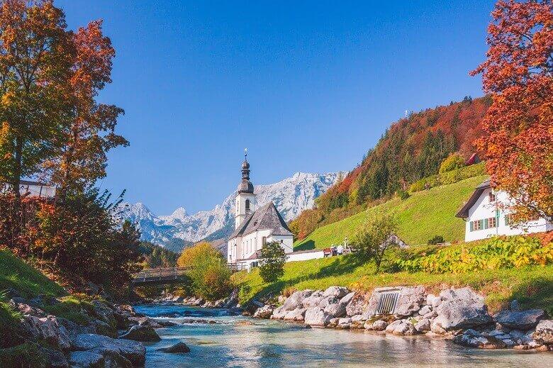 Ramsau in Berchtesgaden im Herbst
