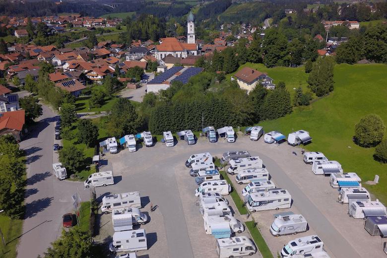 Wohnmobilstellplatz Nesselwang im Allgäu