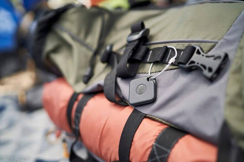 Finder an einem Rucksack