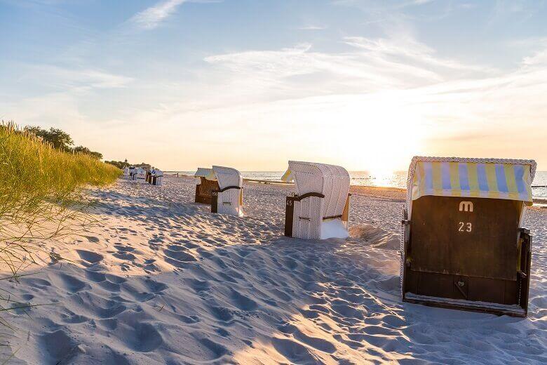 Strandkörbe in Kühlungsborn an der deutschen Ostsee