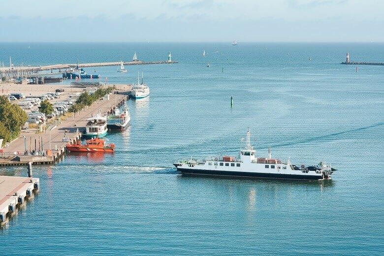 Wohnmobil-Stellplätze am Hafen von Rostock