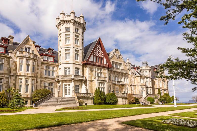 Königspalast auf der Magdalena-Halbinsel in Santander, Kantabrien, Spanien