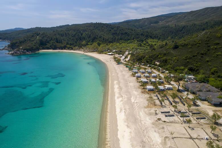 Campingplatz am Meer in Chalkidiki
