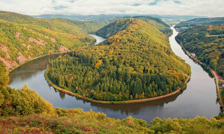 Panoramablick Saarschleife