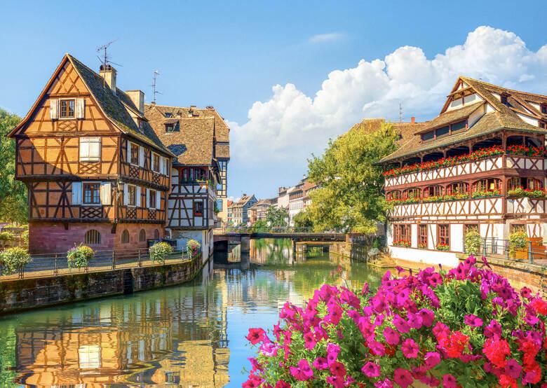 Bunte Häuser in Strasbourg