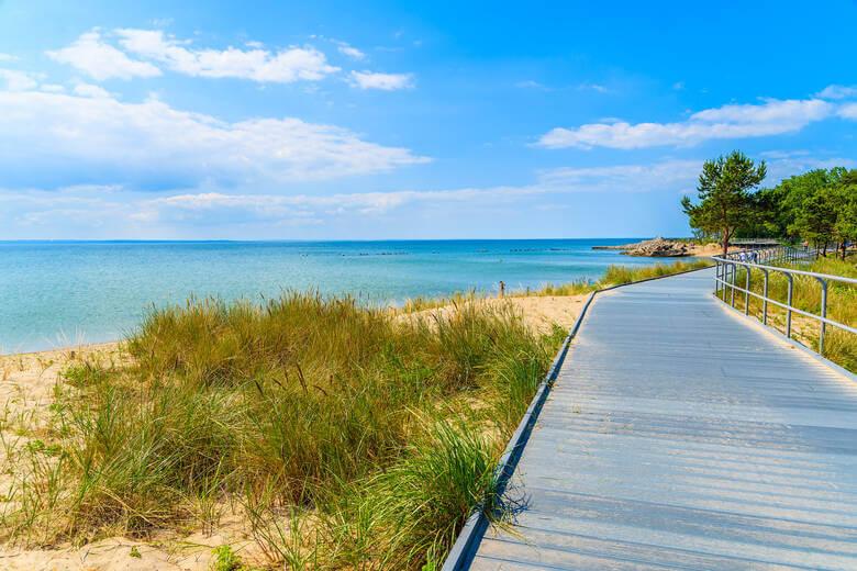 Strand auf der Halbinsel Hel in Polen