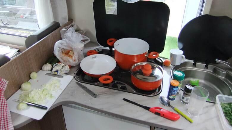 Wohnmobil-Küche